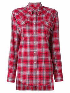 Isabel Marant Étoile divana check shirt - Red