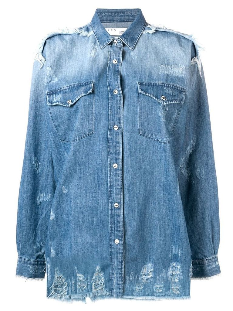 Iro distressed detail shirt - Blue