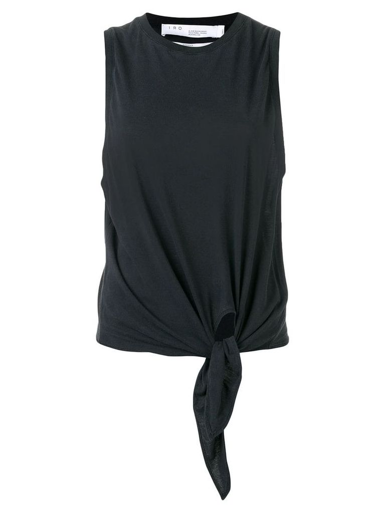 Iro waist-tied tank top - Grey