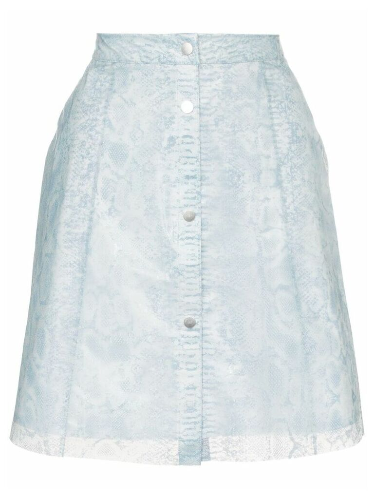 Paskal Reflective translucent printed skirt - Blue