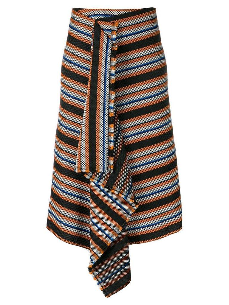 Dorothee Schumacher striped asymmetric skirt - Black
