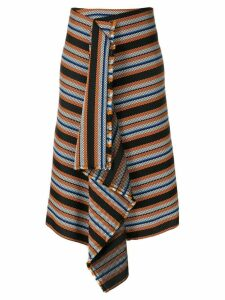Dorothee Schumacher striped asymmetric skirt - Black