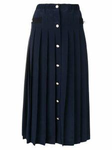 Miu Miu pleated midi skirt - Blue