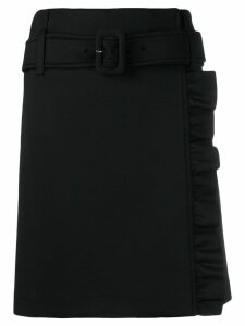 Prada ruffle detail skirt - Black