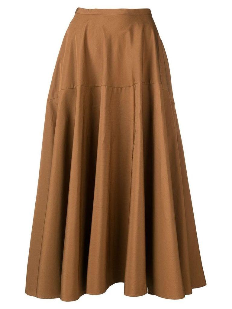 Aspesi flared midi skirt - Brown