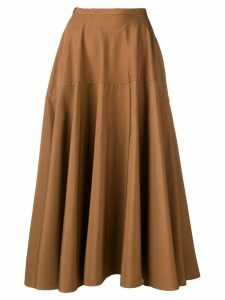Aspesi flared midi skirt - Brown