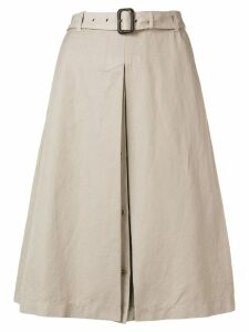 Aspesi belted midi skirt - Neutrals