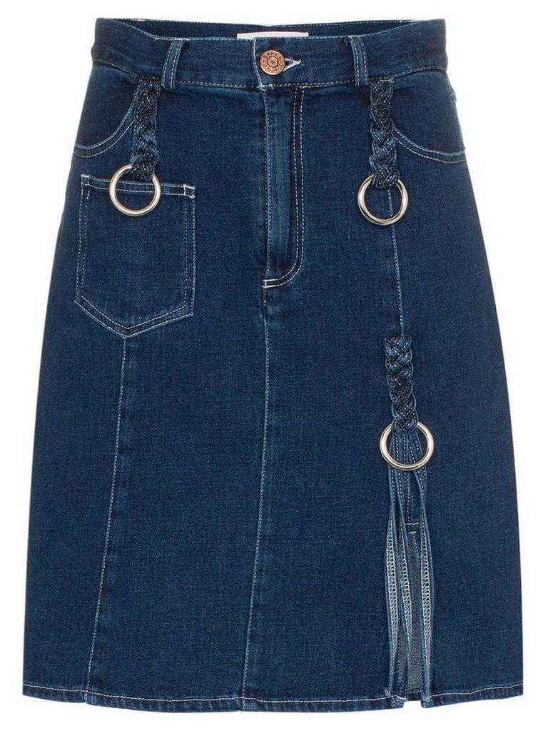 See By Chloé braided denim skirt - Blue