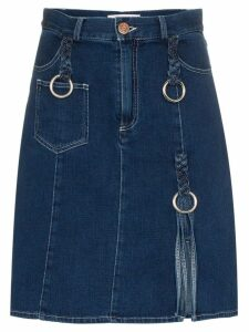 See By Chloé braided denim skirt - Blue