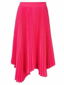 We11done asymmetric pleated skirt - Pink