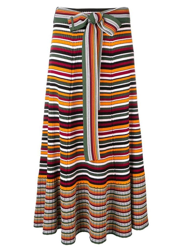 3.1 Phillip Lim striped rib-knit skirt - Orange