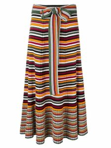 3.1 Phillip Lim striped rib-knit skirt - Orange