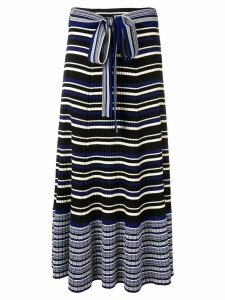 3.1 Phillip Lim stripe rib-knit skirt - Blue