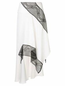 Christopher Esber lace detail asymmetric skirt - White
