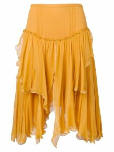 See By Chloé asymmetric draped skirt - Yellow