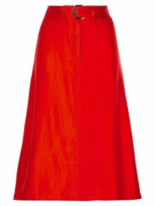 Sies Marjan belted asymmetric skirt - Red