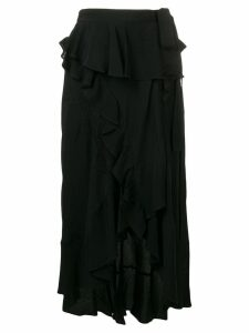 Iro asymmetric ruffle skirt - Black