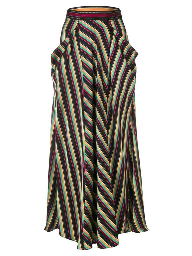 3.1 Phillip Lim long striped skirt - Black