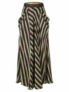 3.1 Phillip Lim long striped skirt - Black