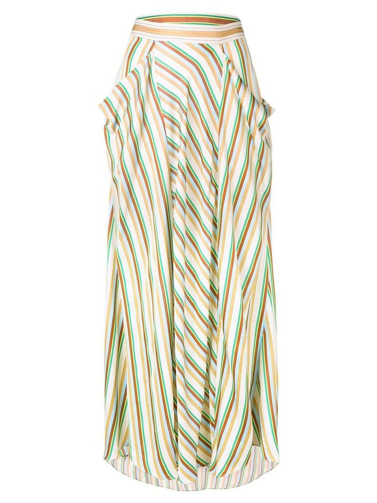 3.1 Phillip Lim long striped skirt - Neutrals