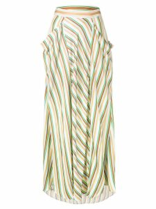 3.1 Phillip Lim long striped skirt - Neutrals