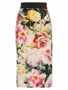 Dolce & Gabbana Floral Print Pencil Skirt - Multicolour