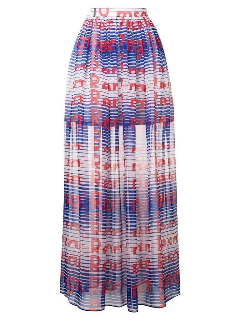 MSGM long printed skirt - Blue
