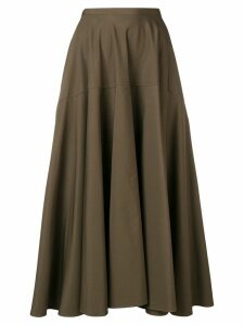 Aspesi high-rise flared skirt - Green