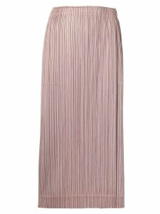 Pleats Please By Issey Miyake plissé skirt - Brown