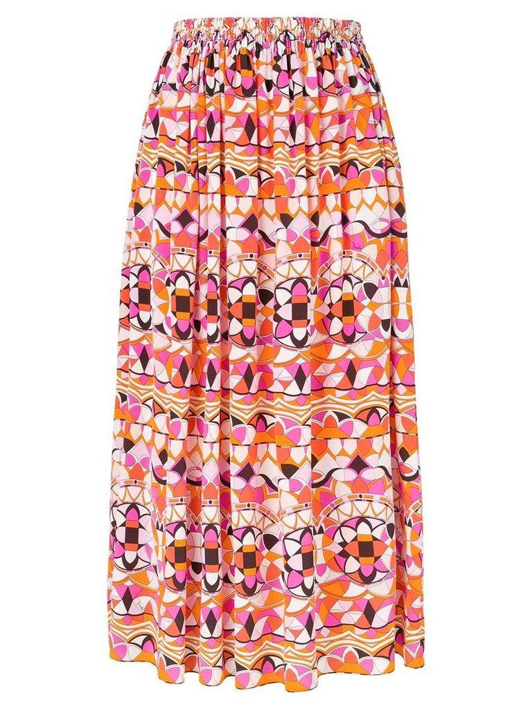 Emilio Pucci printed midi skirt - Multicolour