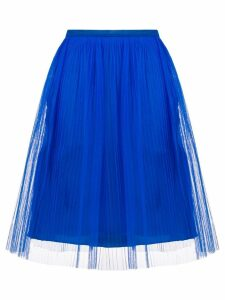 Maison Margiela pleated tule skirt - Blue