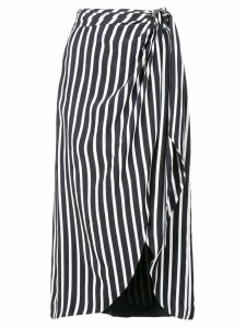 Jonathan Simkhai striped midi skirt - White