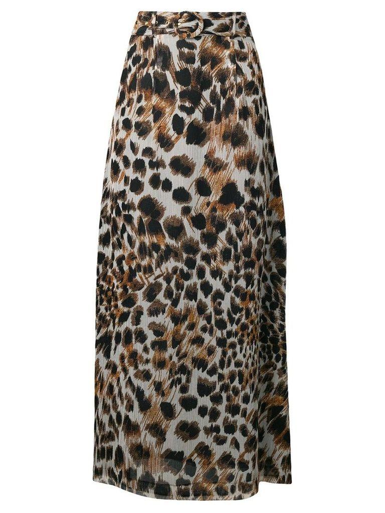 Nanushka Nataal Ocelot leopard print maxi skirt - Multicolour