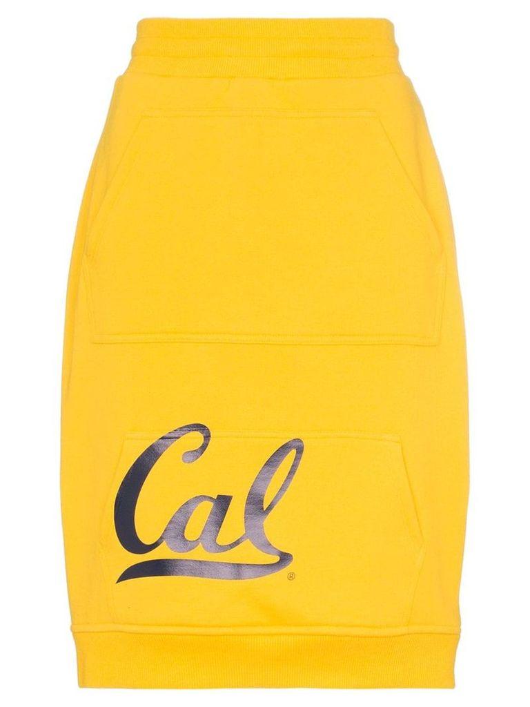 Calvin Klein 205W39nyc high waist Cal logo skirt - Yellow