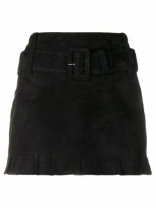 Prada belted midi skirt - Black