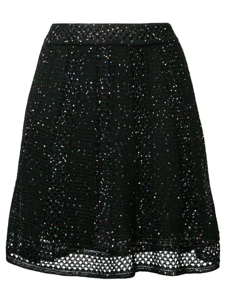 M Missoni sequin embroidered skirt - Black