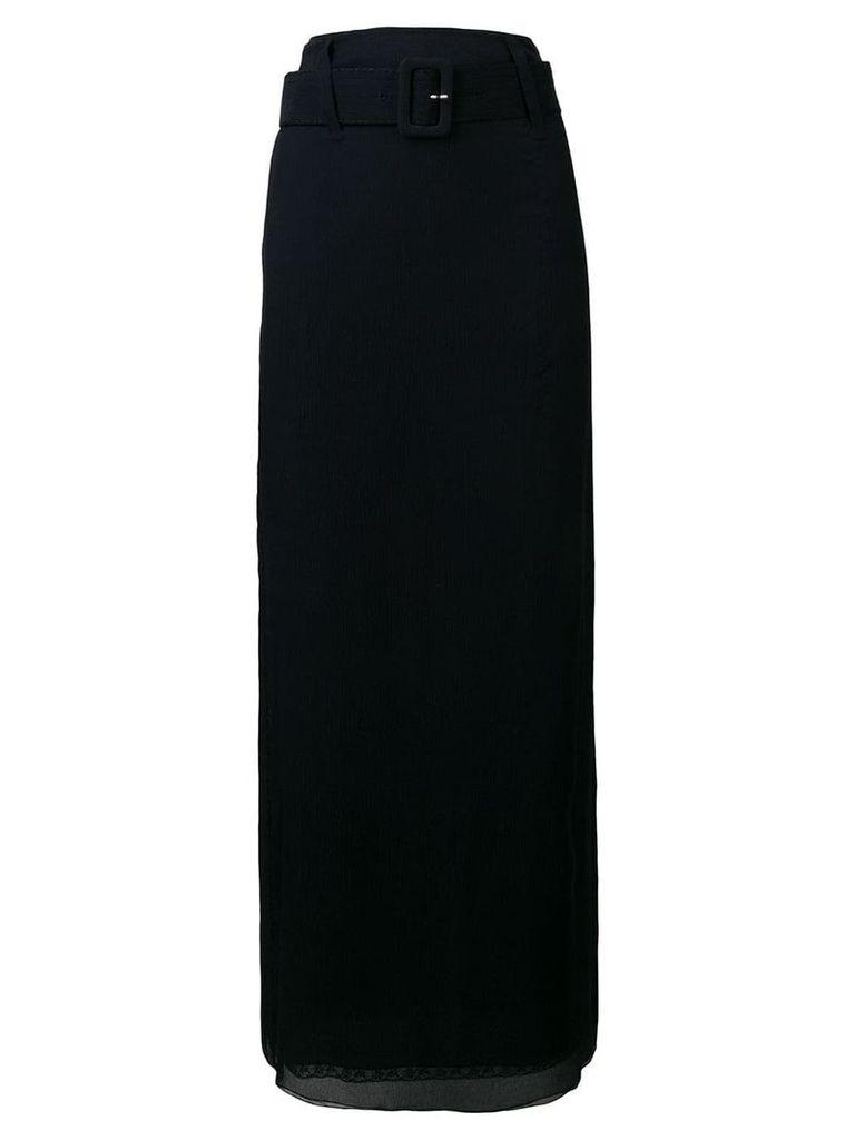 Prada long high-waisted skirt - Blue