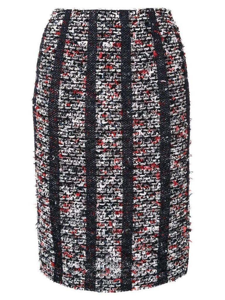 Coohem striped tweed pencil skirt - Black