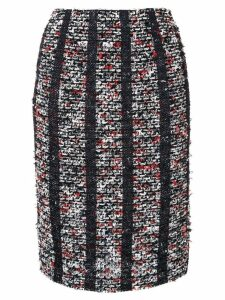 Coohem striped tweed pencil skirt - Black
