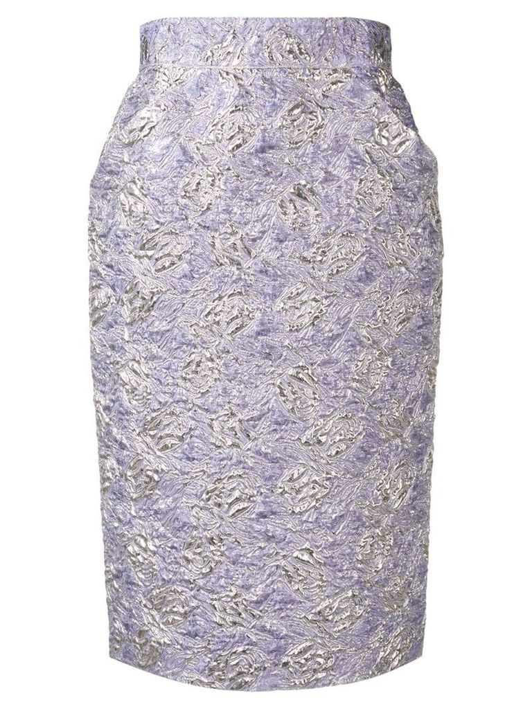 Roseanna cloqué pencil skirt - Purple