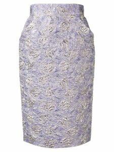Roseanna cloqué pencil skirt - Purple
