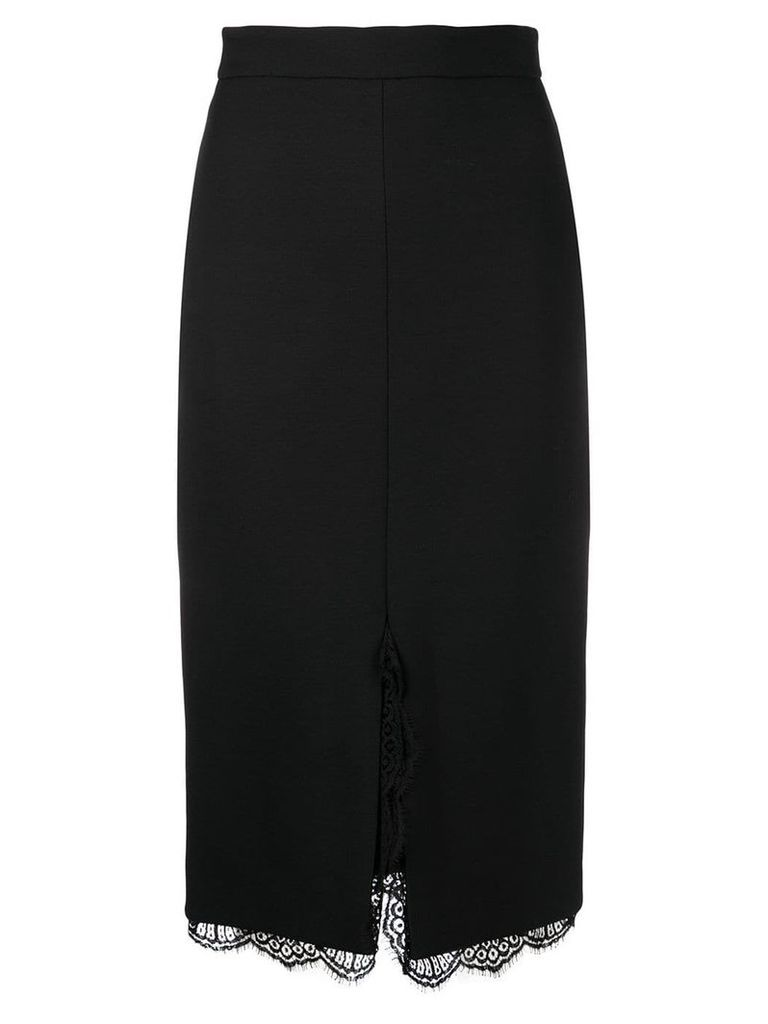 Alexander McQueen lace hem pencil skirt - Black