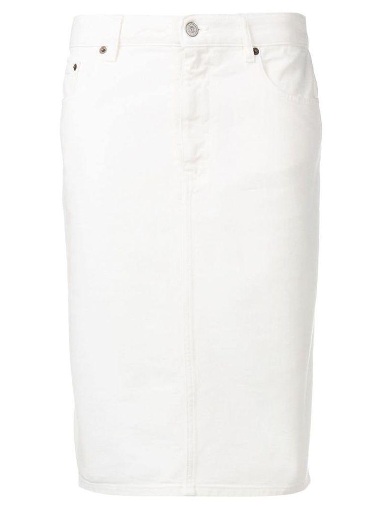 Mm6 Maison Margiela denim pencil skirt - White
