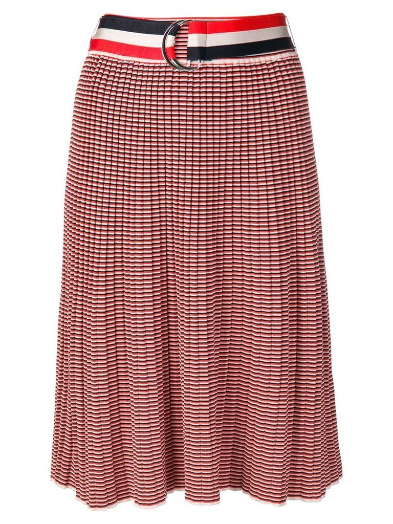 Victoria Victoria Beckham striped knitted skirt - Red