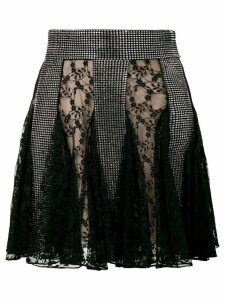 Christopher Kane crystal lace mini skirt - Black