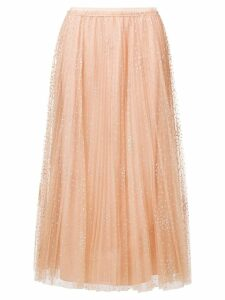 Red Valentino pleated tulle skirt - PINK
