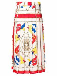 MSGM pleated midi skirt - NEUTRALS
