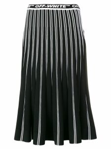 Off-White pleated knit skirt - Black