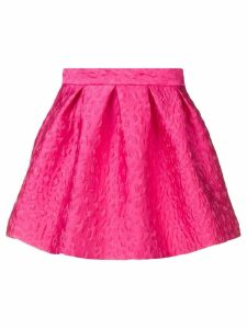 P.A.R.O.S.H. leopard cloqué pleated skirt - Pink