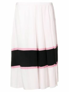 Marni large pleated skirt - Pink